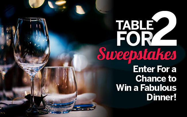 Table for 2 Sweepstakes